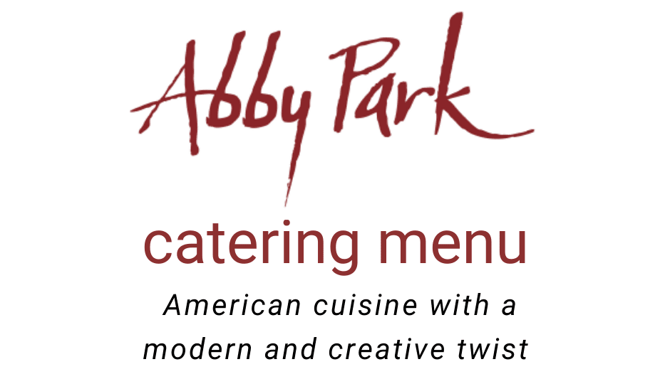 Abby Park Catering Menu 2